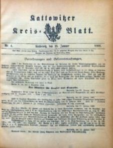 Kattowitzer Kreisblatt, 1907, nr4