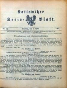 Kattowitzer Kreisblatt, 1907, nr14