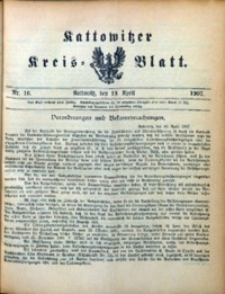 Kattowitzer Kreisblatt, 1907, nr16
