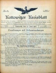 Kattowitzer Kreisblatt, 1907, Nr.24