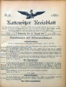 Kattowitzer Kreisblatt, 1907, nr34