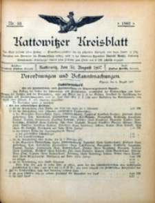 Kattowitzer Kreisblatt, 1907, nr35