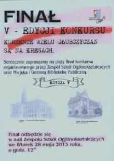"""Finał V edycji konkursu pt. """"Korzenie wielu głubczyczan są na Kresach""""."""