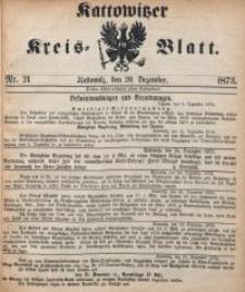 Kattowitzer Kreisblatt, 1873, nr21