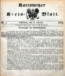 Kattowitzer Kreisblatt, 1874, nr7
