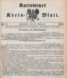 Kattowitzer Kreisblatt, 1874, nr9