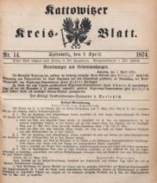 Kattowitzer Kreisblatt, 1874, nr14