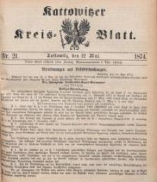 Kattowitzer Kreisblatt, 1874, nr21