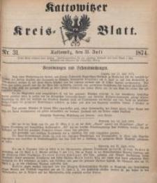Kattowitzer Kreisblatt, 1874, nr31