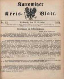 Kattowitzer Kreisblatt, 1874, nr43