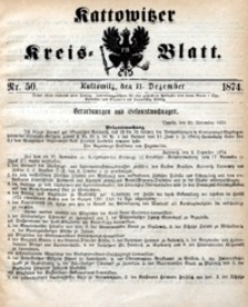 Kattowitzer Kreisblatt, 1874, nr50