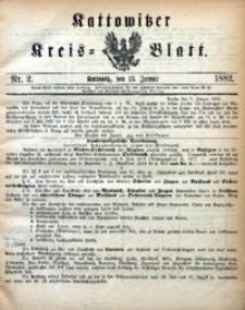 Kattowitzer Kreisblatt, 1882, nr2