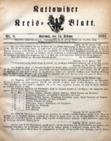 Kattowitzer Kreisblatt, 1882, nr8