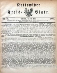 Kattowitzer Kreisblatt, 1882, nr19