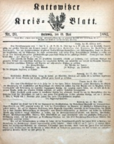 Kattowitzer Kreisblatt, 1882, nr20