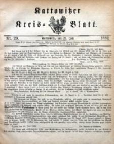 Kattowitzer Kreisblatt, 1882, nr29