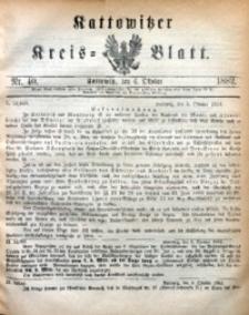 Kattowitzer Kreisblatt, 1882, nr40