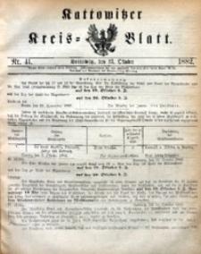 Kattowitzer Kreisblatt, 1882, nr41