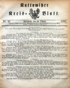 Kattowitzer Kreisblatt, 1882, nr42