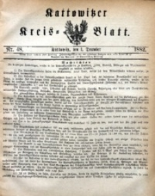 Kattowitzer Kreisblatt, 1882, nr48