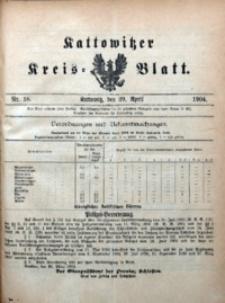 Kattowitzer Kreisblatt, 1904, nr18