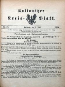 Kattowitzer Kreisblatt, 1904, nr27
