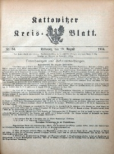 Kattowitzer Kreisblatt, 1904, nr34