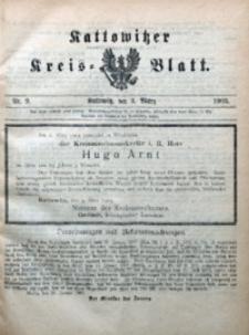 Kattowitzer Kreisblatt, 1905, nr9