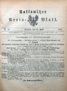 Kattowitzer Kreisblatt, 1905, nr16