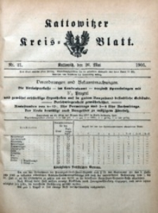 Kattowitzer Kreisblatt, 1905, nr21