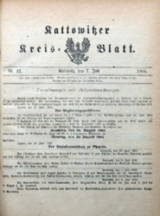 Kattowitzer Kreisblatt, 1905, nr27