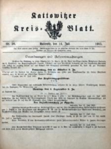 Kattowitzer Kreisblatt, 1905, nr28