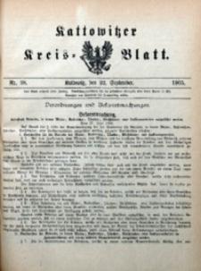 Kattowitzer Kreisblatt, 1905, nr38