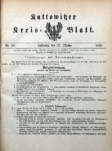 Kattowitzer Kreisblatt, 1905, nr43