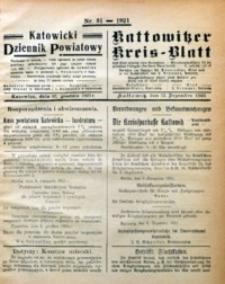 Kattowitzer Kreisblatt, 1921, nr51