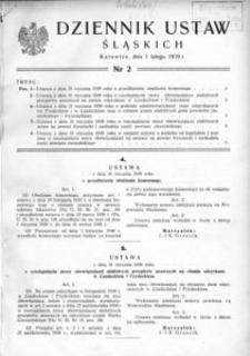Dziennik Ustaw Śląskich, 01.02.1939, [R. 18], nr 2