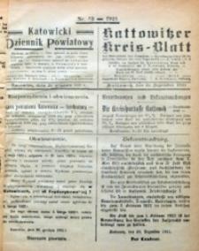 Kattowitzer Kreisblatt, 1921, nr53