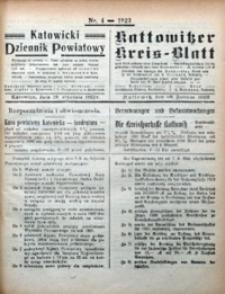 Kattowitzer Kreisblatt, 1922, nr4
