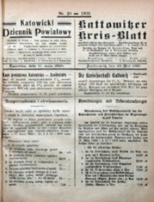 Kattowitzer Kreisblatt, 1922, nr20