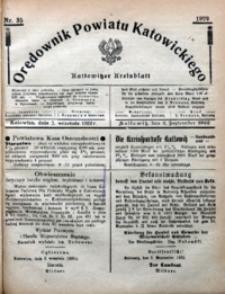 Orędownik Powiatu Katowickiego = Kattowitzer Kreisblatt, 1922, nr35