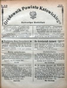 Orędownik Powiatu Katowickiego = Kattowitzer Kreisblatt, 1922, nr38/39