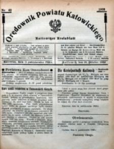 Orędownik Powiatu Katowickiego = Kattowitzer Kreisblatt, 1922, nr42
