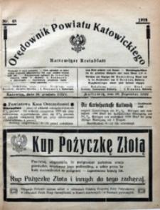 Orędownik Powiatu Katowickiego = Kattowitzer Kreisblatt, 1922, nr48