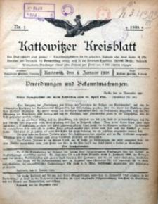 Kattowitzer Kreisblatt, 1908, Nr.1