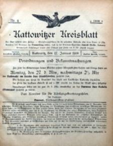 Kattowitzer Kreisblatt, 1908, nr3