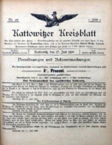 Kattowitzer Kreisblatt, 1908, nr29