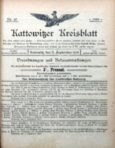 Kattowitzer Kreisblatt, 1908, nr37