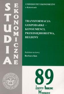 Transformacja gospodarki - konsumenci, przedsiębiorstwa, regiony