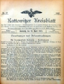 Kattowitzer Kreisblatt, 1917, nr17
