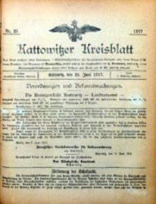 Kattowitzer Kreisblatt, 1917, nr25